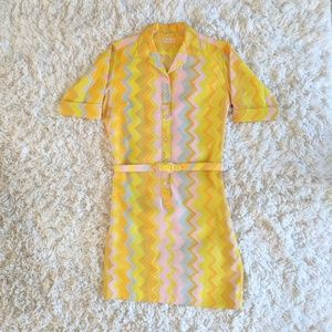 VTG Chevron Shift Dress
